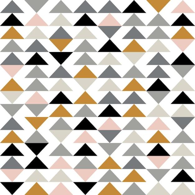 三角形とモダンな抽象的な幾何学的な背景 Premiumベクター