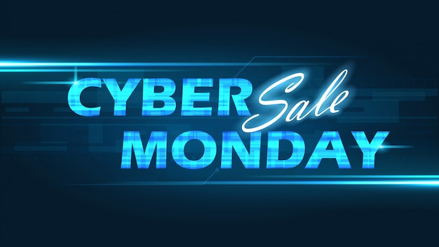 Кибер понедельник фон Premium векторы