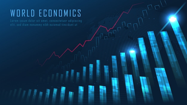 株式市場または外国為替取引グラフ Premiumベクター