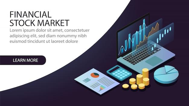 等尺性金融株式市場のコンセプト Premiumベクター