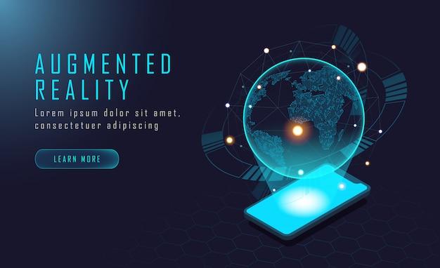 世界拡張現実 Premiumベクター