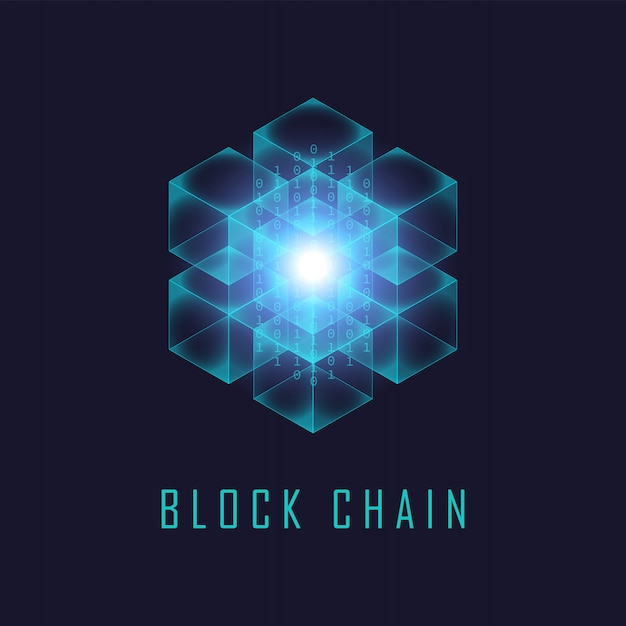 Блокчейн технология Premium векторы
