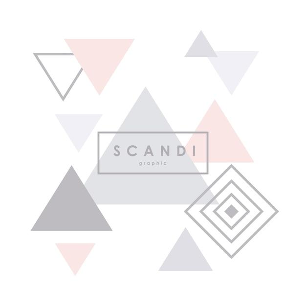 幾何学的なスカンジナビアのパターン。 Premiumベクター