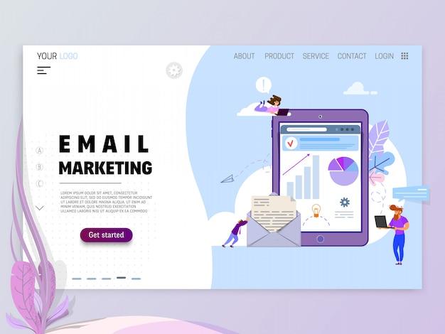 メールマーケティングの概念。 Premiumベクター