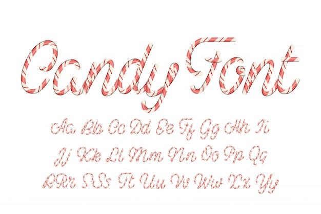 Латинский алфавит из конфет. Premium векторы