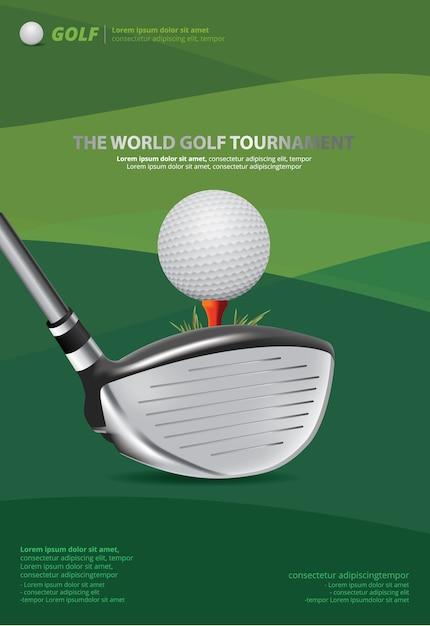 ポスターゴルフのベクトル図 Premiumベクター