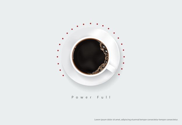 コーヒーポスター広告フライヤイラスト Premiumベクター