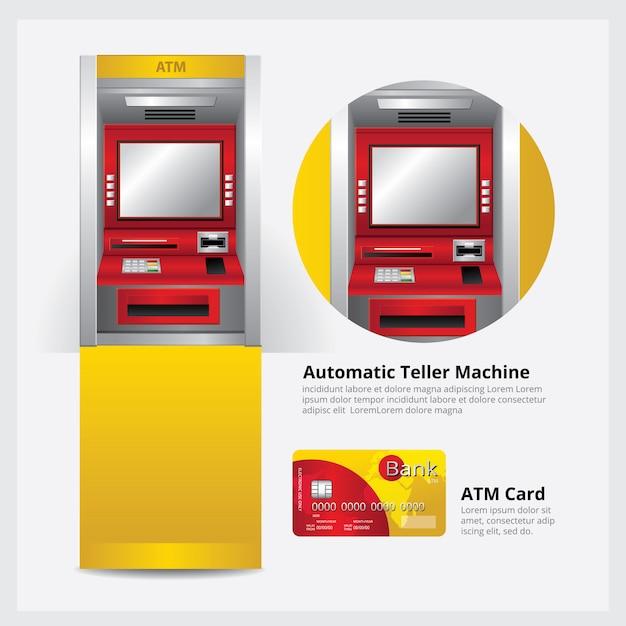 自動支払機が付いている自動支払機 Premiumベクター