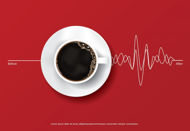 コーヒーポスター広告 Premiumベクター