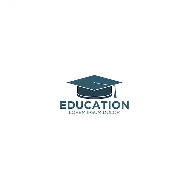Логотип образования - тога шляпа Premium векторы