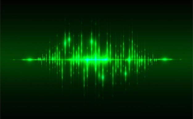 Абстрактное понятие звуковой фон Premium векторы