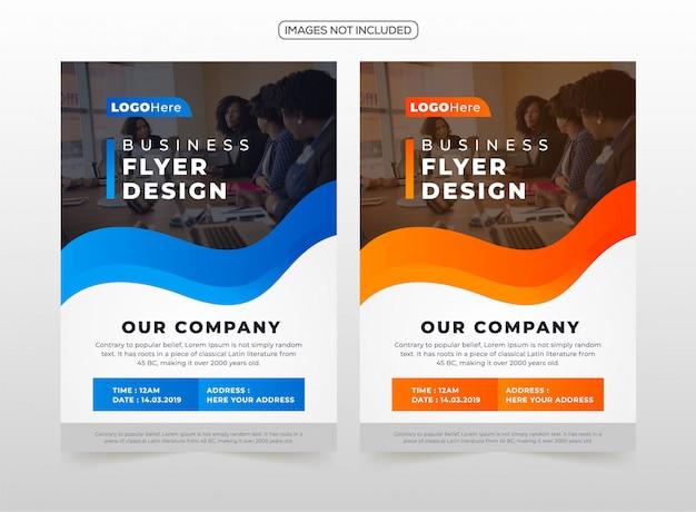 プロフェッショナルビジネスチラシデザイン Premiumベクター