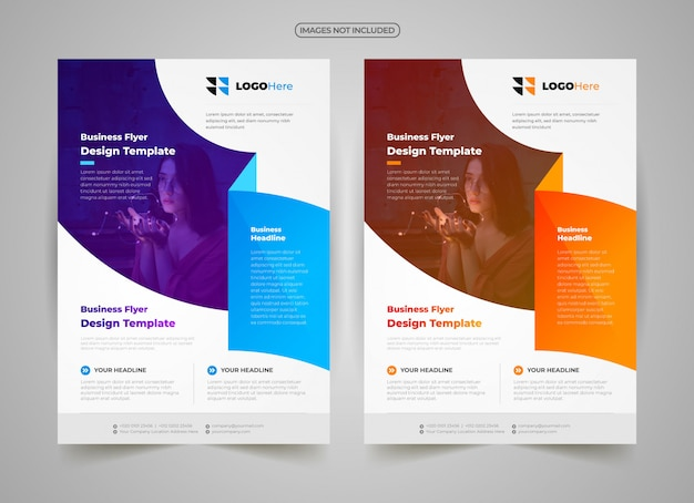 Творческий бизнес флаер шаблон Premium векторы