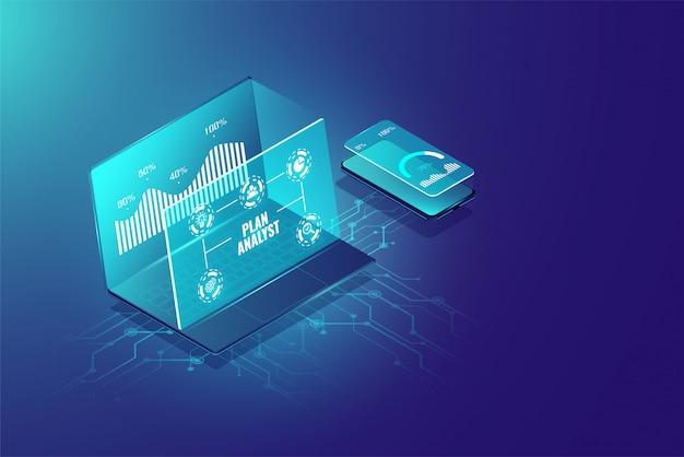 ビジネス分析システムの概念と管理マーケティング。 Premiumベクター