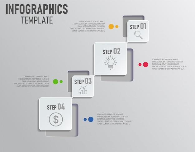 Инфографический шаблон Premium векторы
