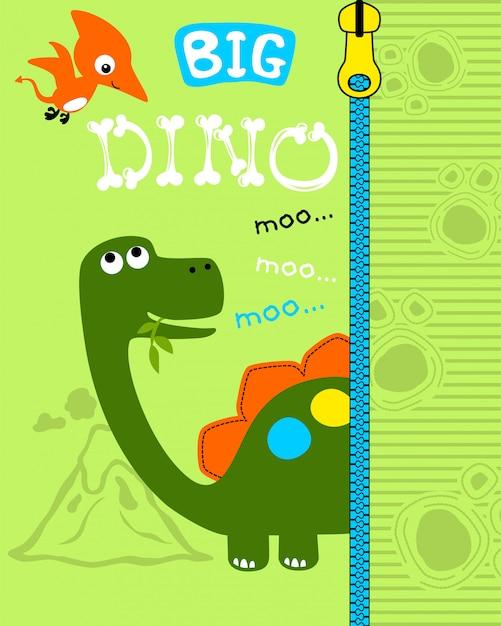 素敵な恐竜の漫画 Premiumベクター