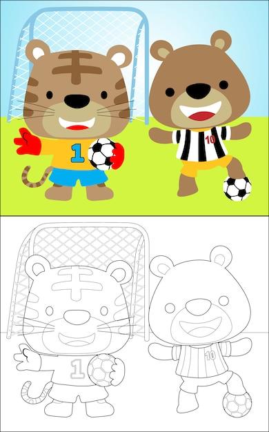 ニースの動物サッカー選手 Premiumベクター