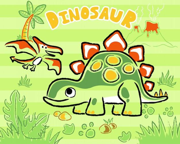 恐竜漫画 Premiumベクター