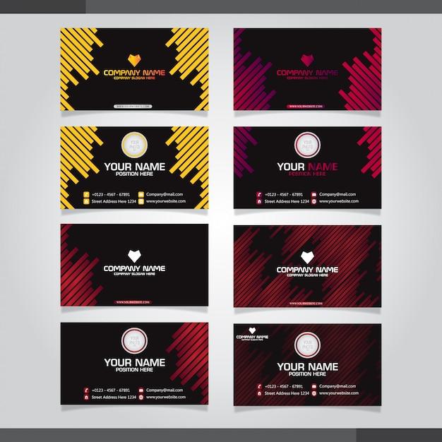 Набор визиток Premium векторы