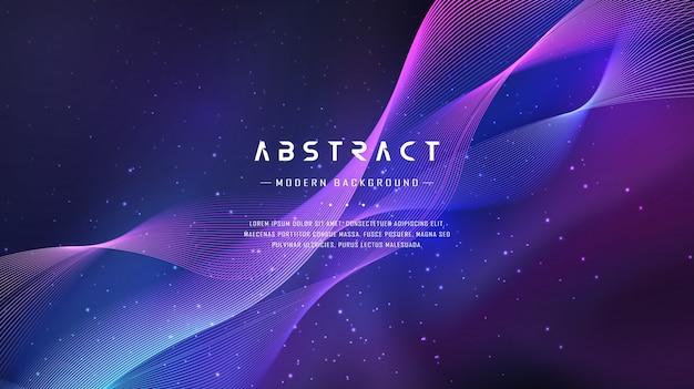 抽象的なグラデーション波空間の背景 Premiumベクター