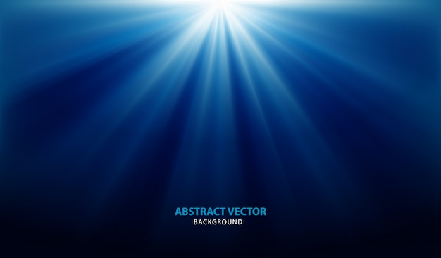 ライトと抽象的な青い背景ベクトル Premiumベクター