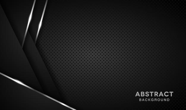 エレガントな暗い背景のオーバーラップレイヤー Premiumベクター
