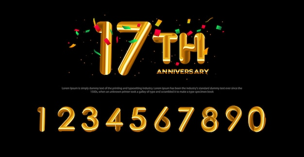 現代の滑らかなアルファベットのフォントと番号。タイポグラフィバルーンスタイルフォント Premiumベクター