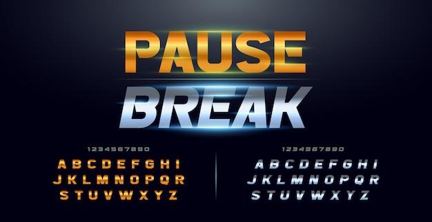 Спорт современная типография курсив алфавит шрифты и номер набора Premium векторы