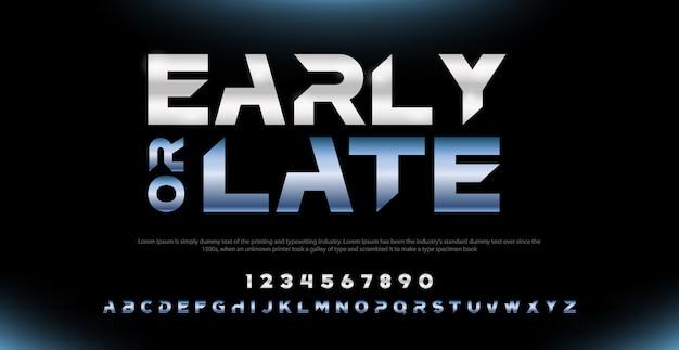 Элегантные шрифты алфавита современной типографии и набор номера Premium векторы