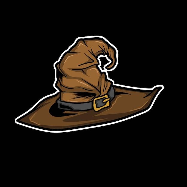 Хэллоуин ведьма шляпа вектор Premium векторы