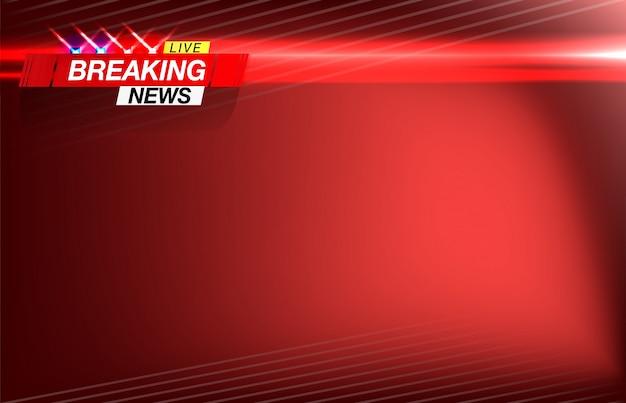 背景の最新ニュース、重要なニュース、点滅灯警察の形での見出し。ベクトル画像 Premiumベクター