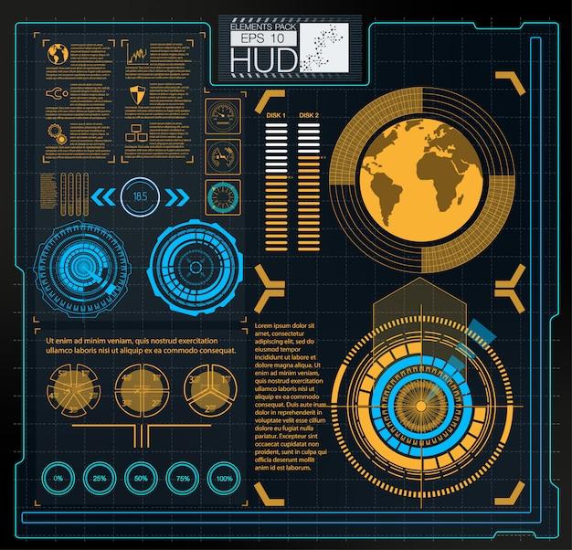 Цветные инфографические цифровые иллюстрации. тема информационной панели Premium векторы