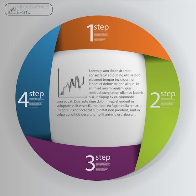 Инфографический шаблон дизайна Premium векторы