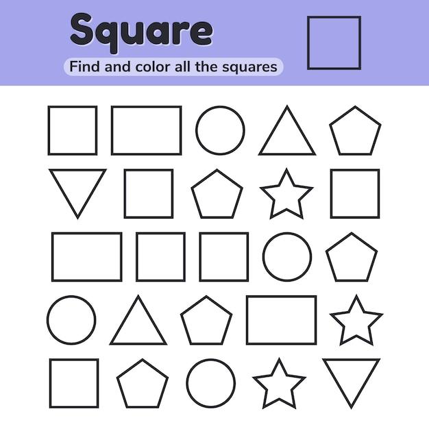 Учебный лист для детского сада, дошкольного и школьного возраста. Premium векторы