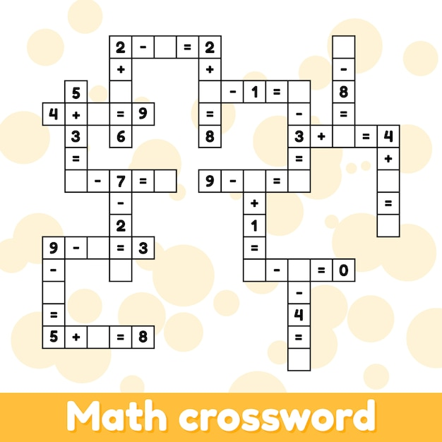 Математическая обучающая игра для детей дошкольного и школьного возраста. Premium векторы