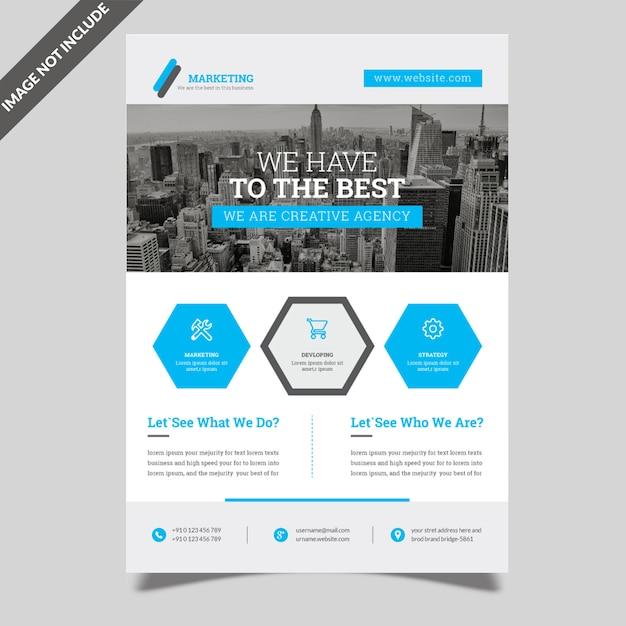 シンプルなビジネスチラシテンプレート Premiumベクター