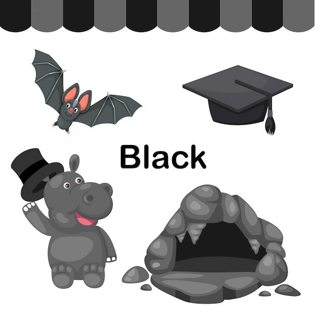 孤立した色黒グループのイラスト Premiumベクター