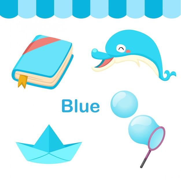 Иллюстрация изолированного цвета синей группы Premium векторы