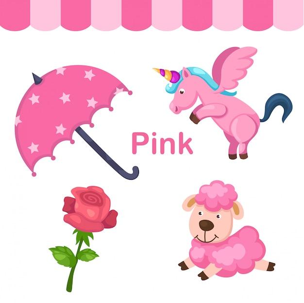 Иллюстрация изолированного цвета розовой группы Premium векторы