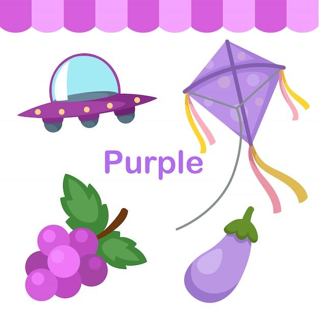 Иллюстрация изолированных цветовой фиолетовый группы Premium векторы