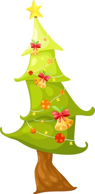 Рождественская елка векторная иллюстрация Premium векторы