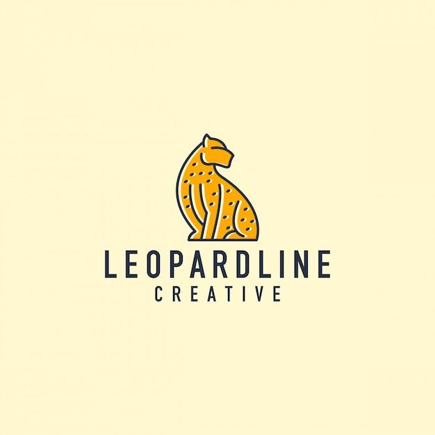 Леопардовый контур логотипа Premium векторы