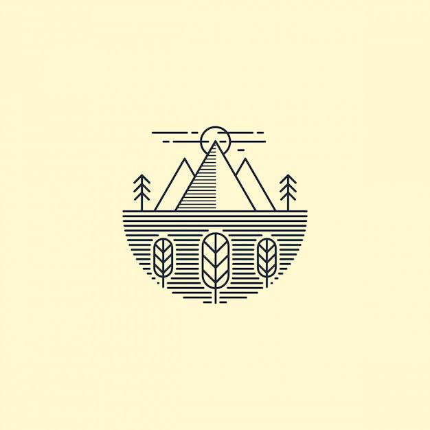 山のロゴの概要 Premiumベクター