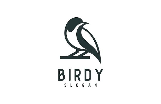Уникальный силуэт птицы логотип Premium векторы