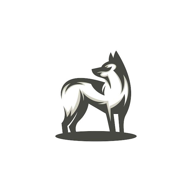 ベクトル犬シルエットシンプルモダン Premiumベクター