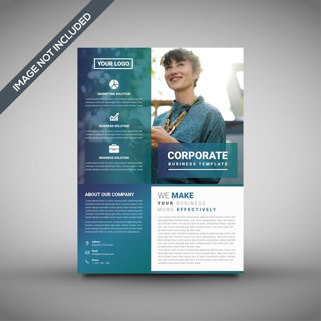 創造的な企業のチラシのテンプレート Premiumベクター