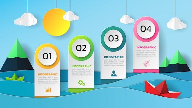 インフォグラフィックデザイン Premiumベクター