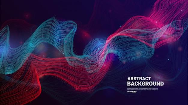 Абстрактный технологический фон с плавными частицами Premium векторы