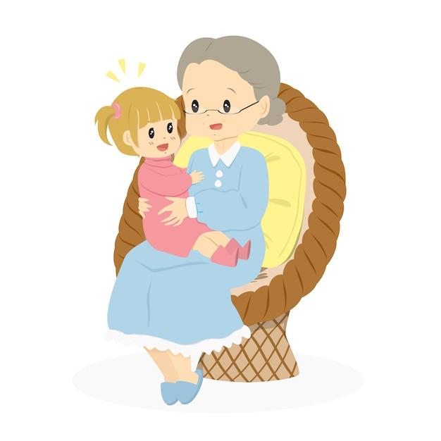 Картинки бабушке с внучкой
