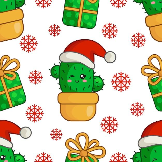 サボテンクリスマス Premiumベクター